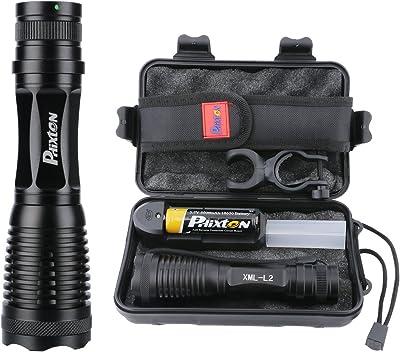 PHIXTON LED Tactical Flashlight High Lumens, Rechargeable 5000mAh