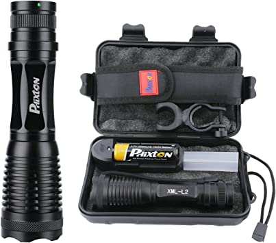 High Bright Battery Powered Waterproof Adjustable Zoom LED Flashlight Torch AI