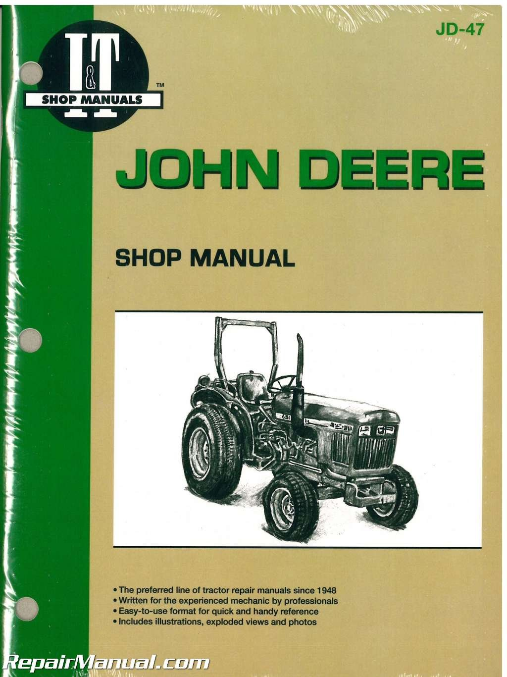 JD-47 John Deere 850 950 1050 Farm Tractor Workshop Manual: Manufacturer:  Amazon.com: Books