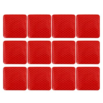 X AUTOHAUX 10pcs Automotive Reflective Stickers Night Visibility Safety Reflective Tape Universal Adhesive for Car 40 x 5cm Silver Tone Red Arrows Pattern