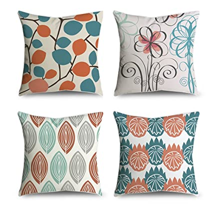 Amazon FabricMCC MidCentury Modern Leaf Pattern Decorative Interesting Sewing Decorative Throw Pillows
