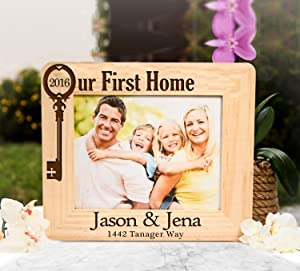 Personalized Engraved Picture Frame Our First Home