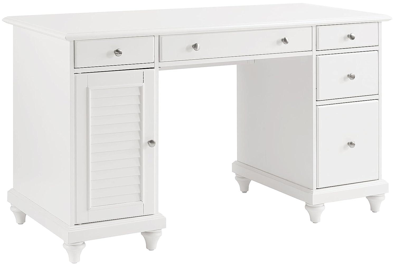Crosley Furniture CF6507-WH Palmetto Computer Desk - White