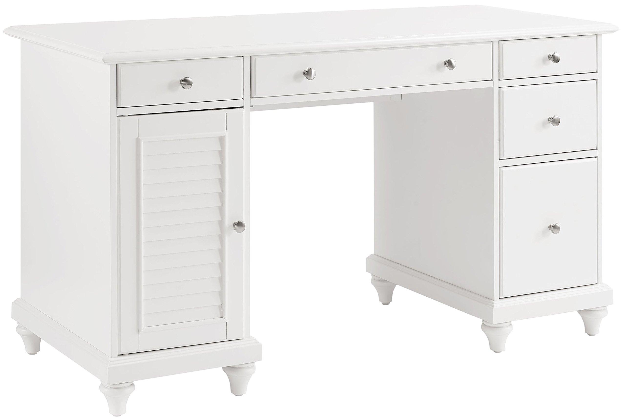 Crosley Furniture CF6507-WH Palmetto Computer Desk - White by Crosley Furniture