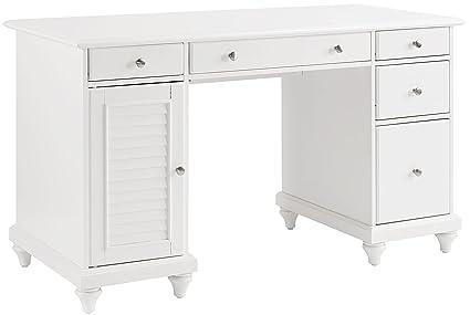 Astonishing Amazon Com Crosley Furniture Cf6507 Wh Palmetto Computer Home Interior And Landscaping Dextoversignezvosmurscom