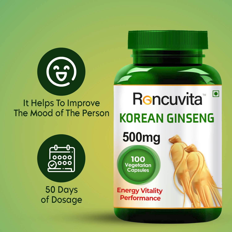 RONCUVITA™ Grade A Korean Ginseng 500mg,