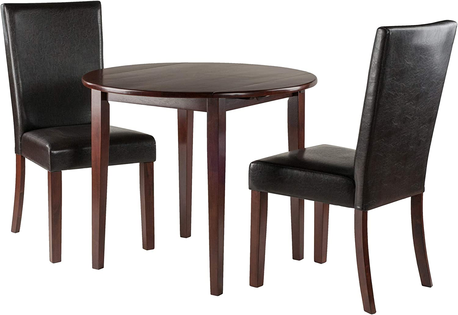 Winsome Wood Clayton 3-PC Set Drop Leaf Table with 2 Chairs Collection
