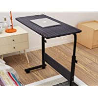 BePrincess 60 * 40cm Laptop Table Desk Stand Mobile Computer Workstation Height Adjustable with Rolling Wheel For…