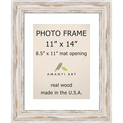 Amazoncom Picture Frame 11x14 Matted To 85x11 Alexandria White