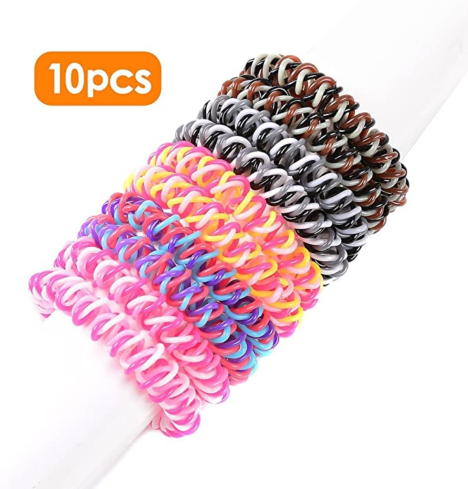 1pcsCrystal Elastic Hair Ties Band Ropes Ring Ponytail w Holder Accessories O9Z0