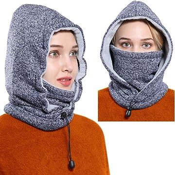 Ski Mask Women Men Balaclava Fleece Hood Winter Face Mask Head Warmer Face Warmer