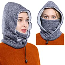 Ski Mask Women Men Balaclava Fleece Hood Winter Face Mask Head Warmer Face Warmer