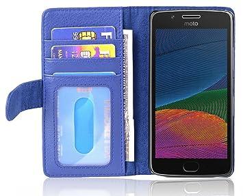 Cadorabo Funda Libro para Motorola Moto G5 en Azul Real: Amazon.es ...