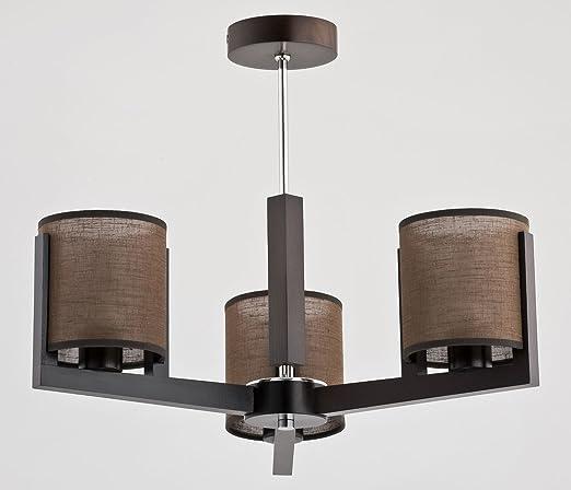 Bauhaus - Lámpara de techo de 3 focos E14 Cilindro oscura ...