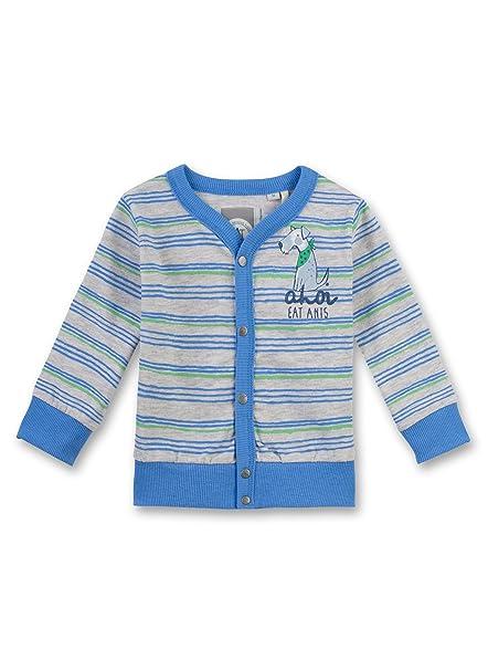 Sanetta - Chaqueta deportiva - Manga Larga - para bebé niño Mehrfarbig (light platin meliert