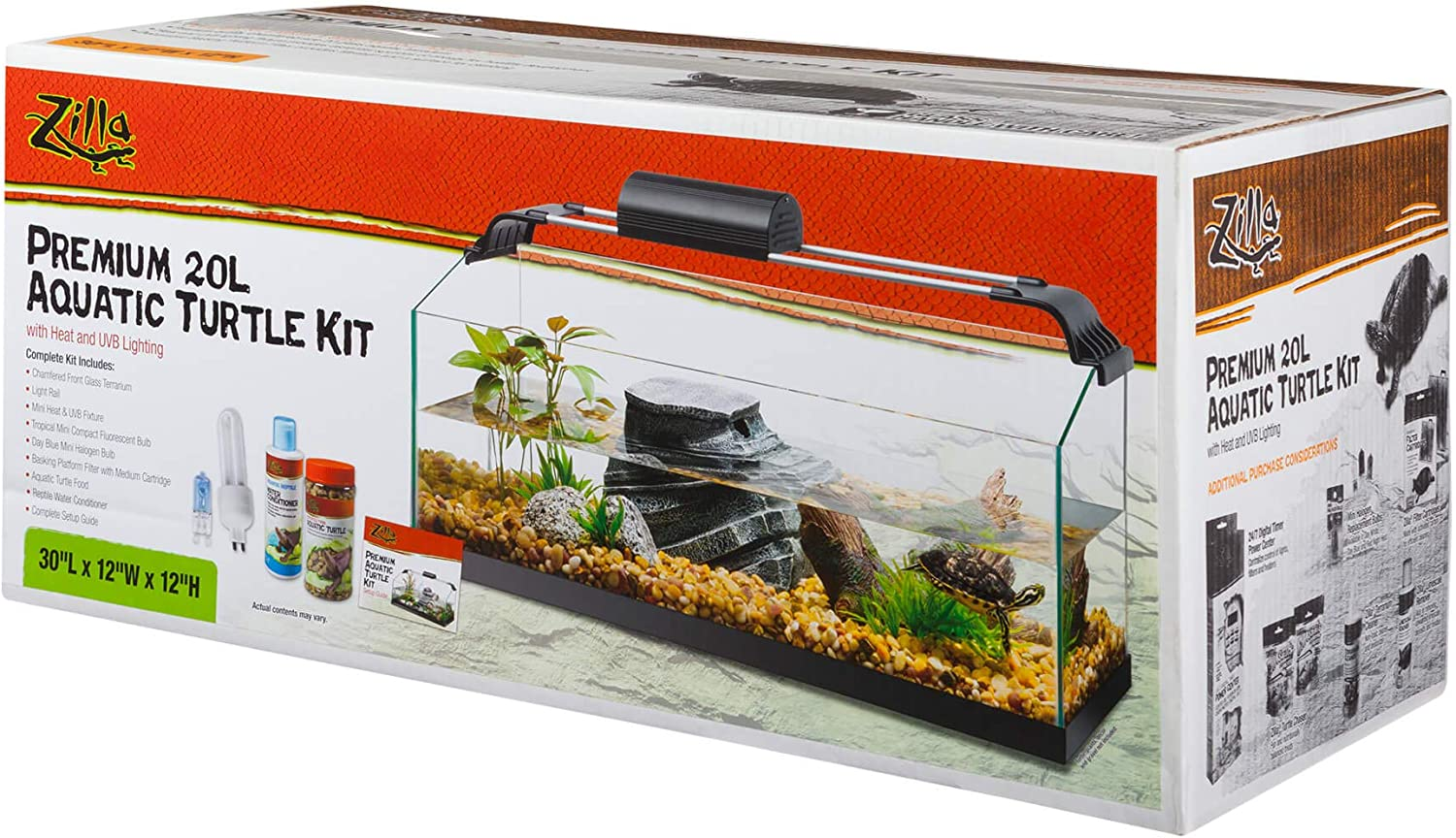 zilla aquatic turtle kit 20 gallon