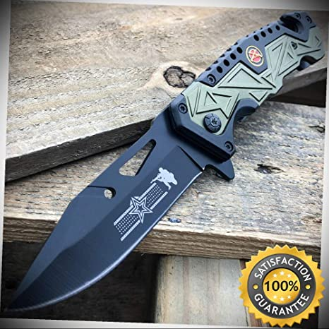 8'' USMC MARINES MILITARY Spring Assisted Opening Knife