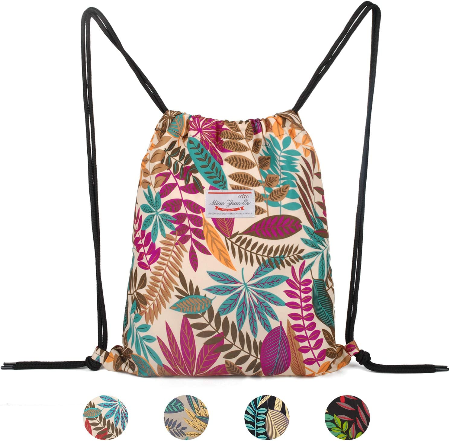 Presents Green Blue On White Drawstring Backpack Sports Athletic Gym Cinch Sack String Storage Bags for Hiking Travel Beach