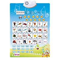 TEMSON Battery Operated Alphabets Numbers Piano Keyboard Musical Notes Electronic Learning Sound Wall Chart For Kids Early Education And Development Toy For Kids Activity Play Center Toy For Toddlers (Multi Color)