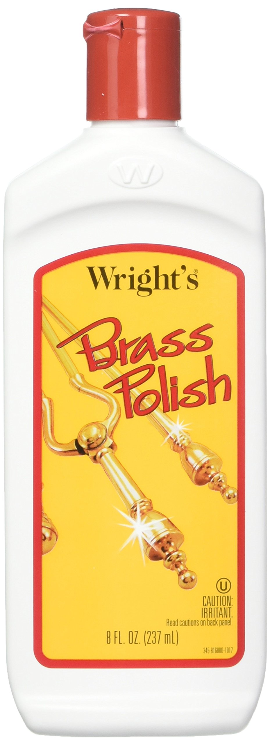 J A Wright Brass Polish Cleaner, 8 Ounce, 993188 -- 6 per case. by Wright