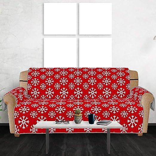 BDTOT Funda de Sofá Home Navidad Cubre Sofá Antideslizante ...