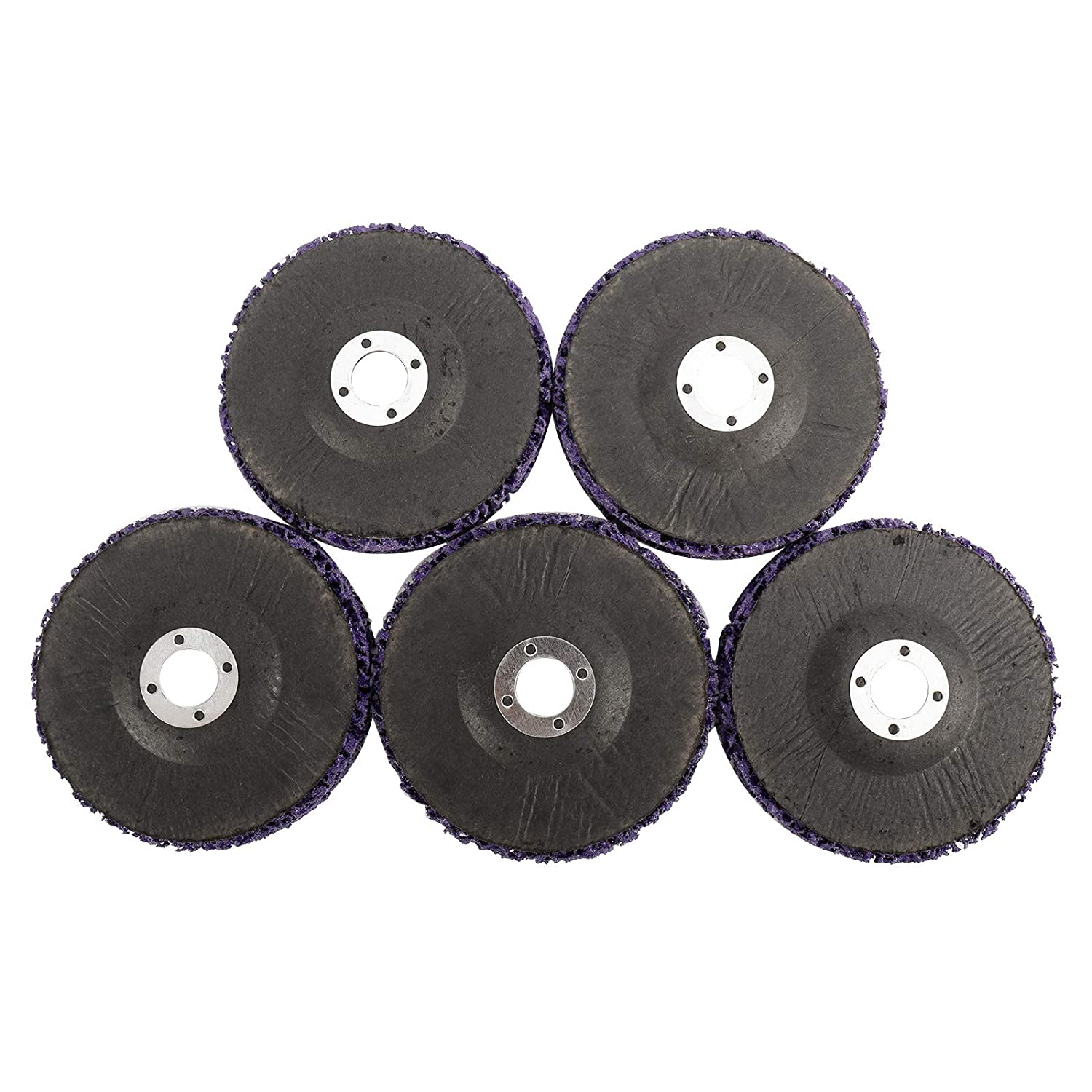 4 x 60# Poly Strip Disc Wheel Paint Rust and Oxidation Removal Clean for Angle Grinder WerkWeit 5 Pcs