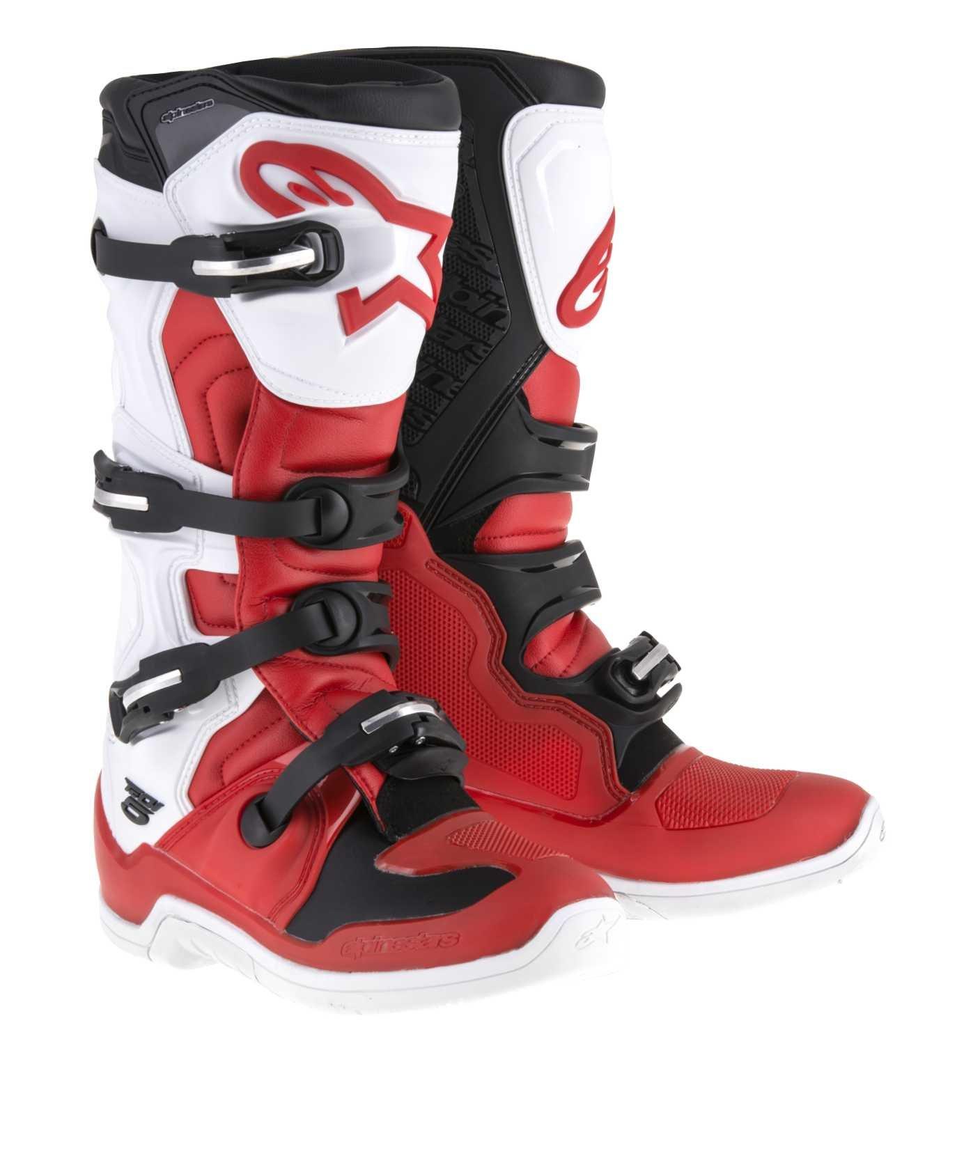 Alpinestars Tech 5 Boots-Red/White/Black-7