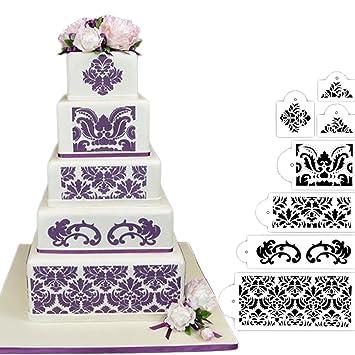 HULISEN 7 Kuchen Dekorieren Schablone Form Hochzeit Kuchen ...
