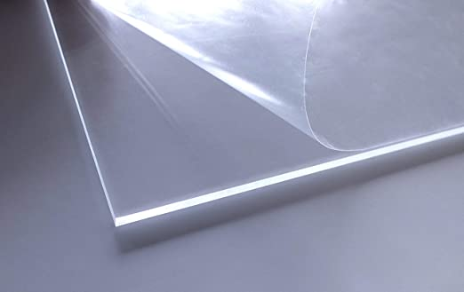 PMMA beidseitig foliert 4 mm stark glasklar 60x20 cm UV best/ändig transparent im Zuschnitt Acrylglas