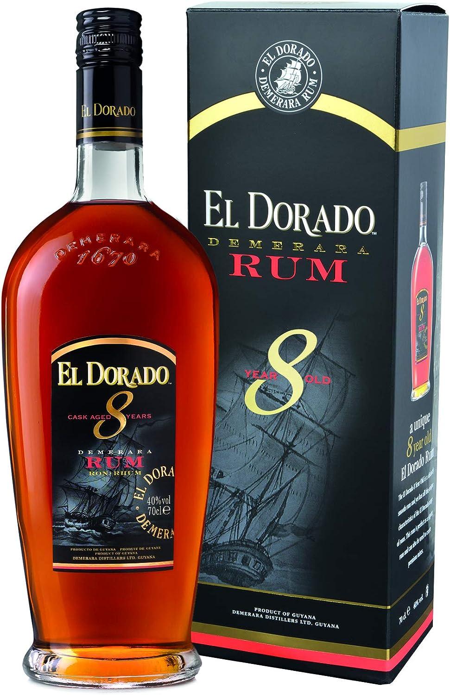 El Dorado 8 Years Old Cask Aged Demerara Rum 40% - 700 ml in Giftbox