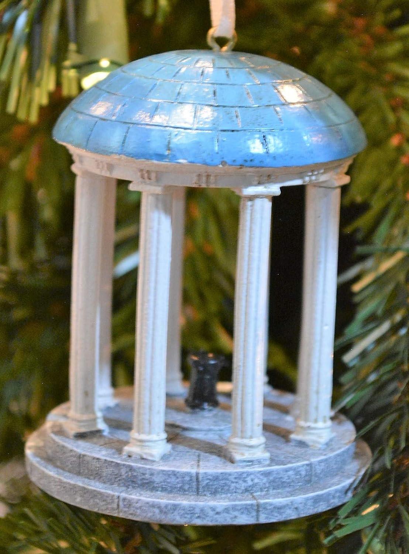 Oxbay North Carolina Tar Heels Glass UNC Santa Ornament