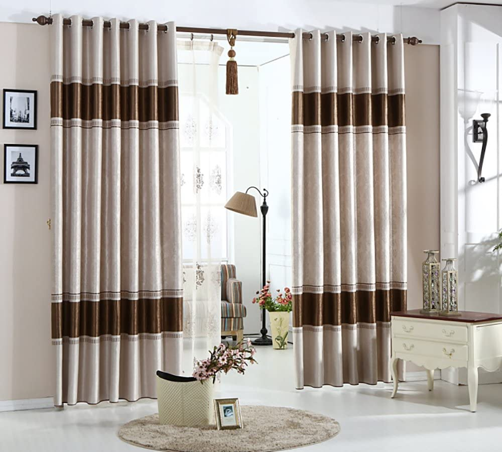 VOGOL Blackout Window Curtains 84 Inches Long Drapes Panels for Bedroom Living Room, 52x84, Top Grommets (2 Panels)