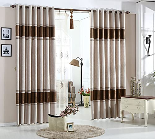 VOGOL Beautiful Blackout Window Curtains Thernal Drapes Panel