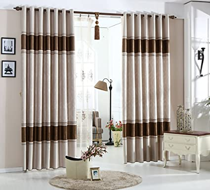 VOGOL Beautiful Blackout Window Curtains Thernal Drapes Panels for Bedroom  Living Room, 60x106, Top Grommets (2 Panels)