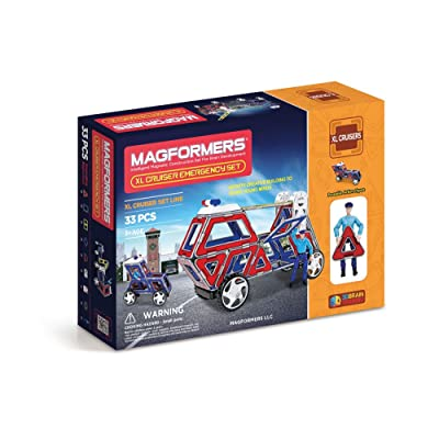 Magformers XL Cruisers Emergency Set (33-pieces): Toys & Games
