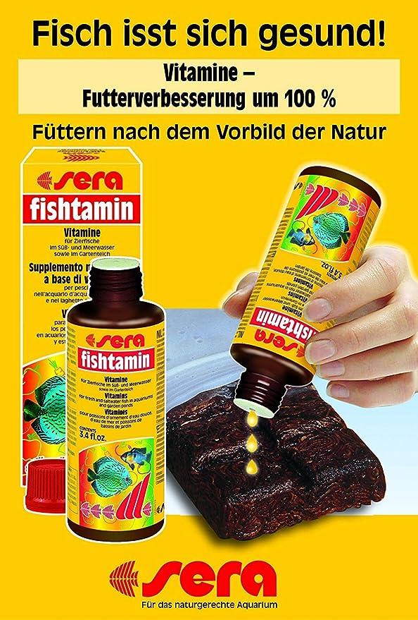 Amazon.com : Sera 2740 fishtamin 3.38 100 ml Pet Food, One Size : Pet Supplies