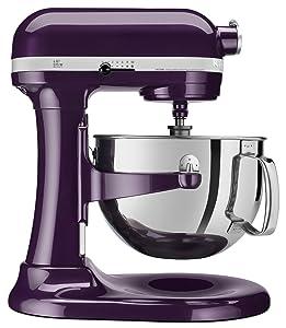 KitchenAid KP26M1QPB Professional 600 Series 6-Quart Stand Mixer, Purple Plum Berry