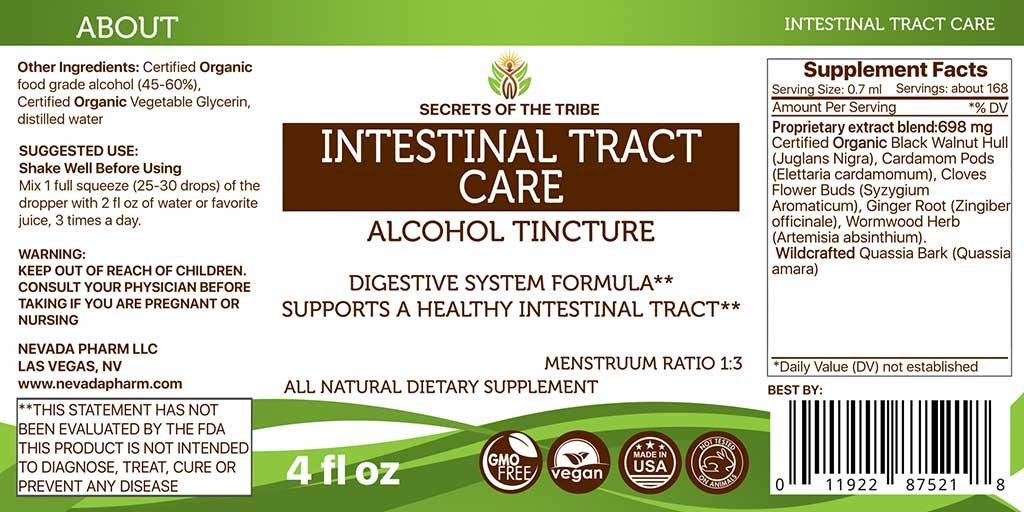 Amazon Intestinal Tract Care Tincture Alcohol Extract Organic