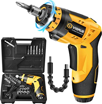 Rechargeable Electric Screwdriver Cordless 2000mAh Battery Power Tool USB TypeC