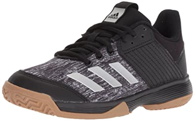cfdfc5ab543 adidas Unisex Ligra 6 Volleyball Shoe Black Silver Metallic White 1 M US  Little