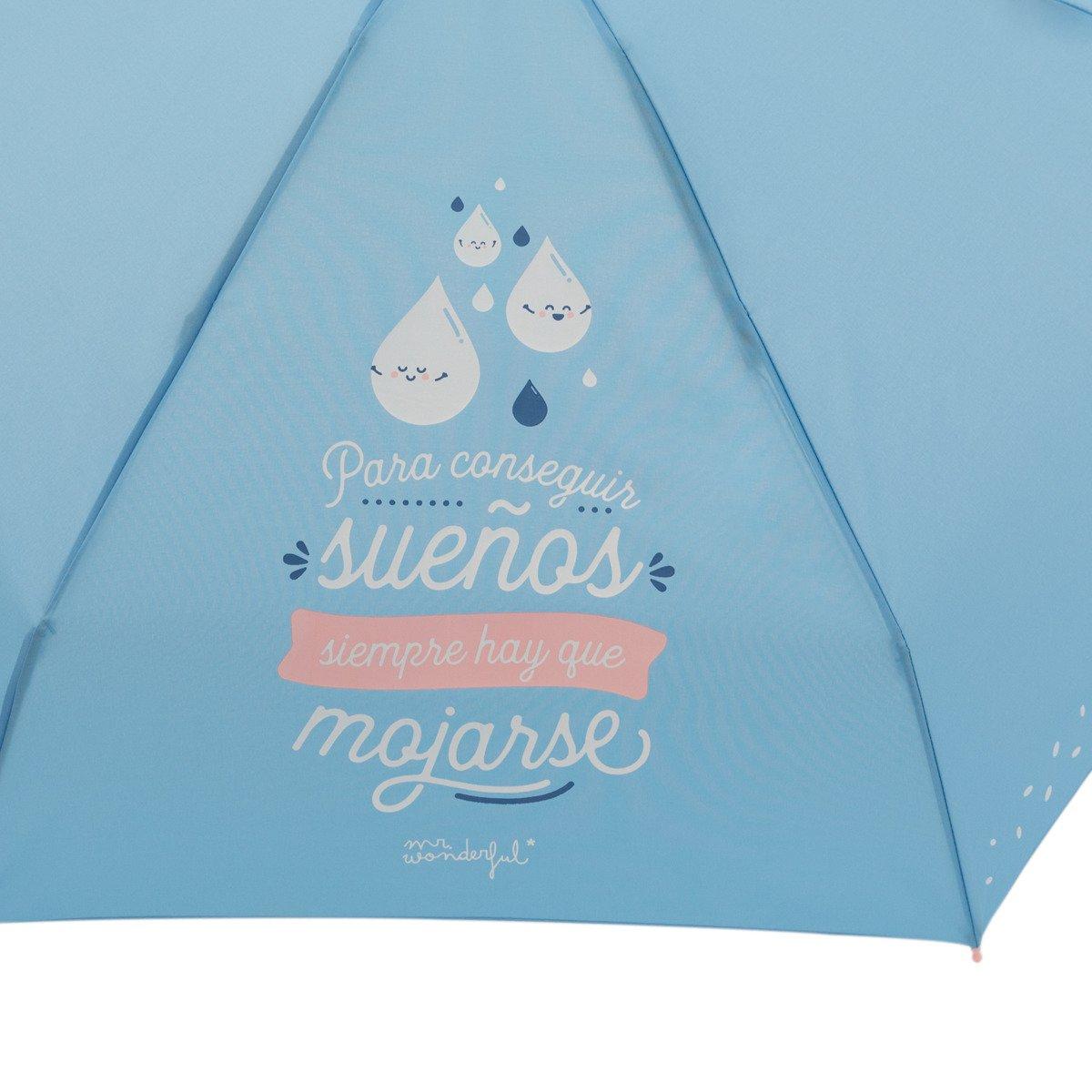 Paraguas Pequeño Mr. Wonderful: Para conseguir sueños siempre hay que mojarse: Amazon.es: Oficina y papelería