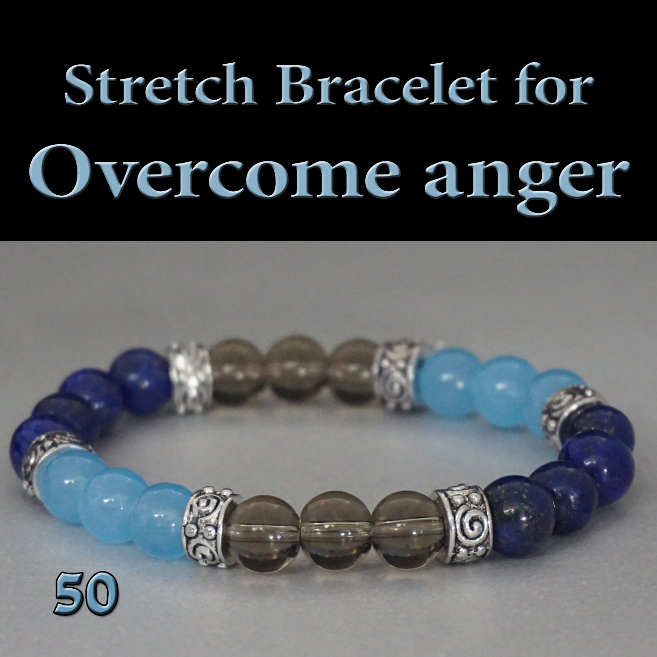 Anger Release Stretch Gemstone Bracelet Anger will be Replaced by Good Feelings and Positive Energy,