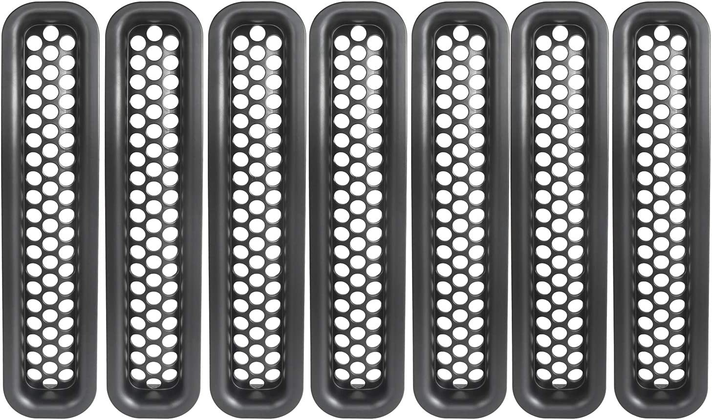 TJ Rubicon Unlimited and TJ Wrangler Unlimited u-Box 7pcs TJ Grille Insert Clip-in Honeycomb Front Mesh Guard for 1997 1998 1999 2000 2001 2002 2003 2004 2005 2006 Jeep TJ Wrangler Sport X Rubicon