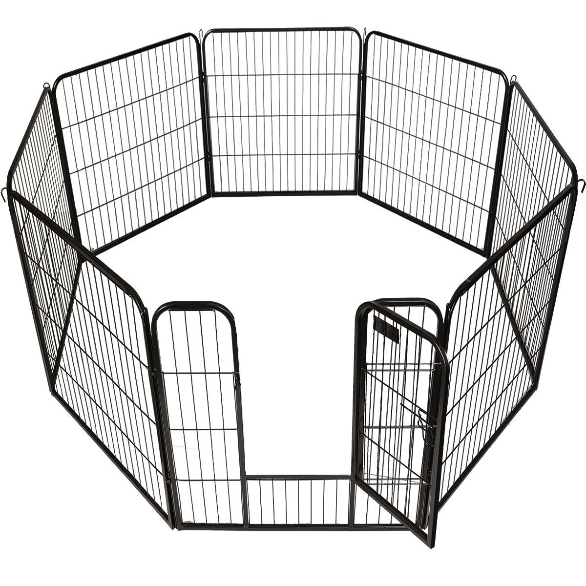 New 40'' X 31'' 8 Panel Heavy Duty Pet Playpen Dog Exercise Pen Cat Fence by Goplus