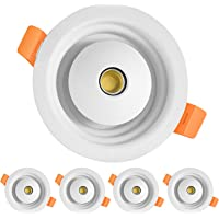 Recessed LED Downlight,HOOBAY Ceiling 8W 3CCT 3000K/6500K/4500K Change Recessed Ceiling Lighting for Kitchen,Living Room…