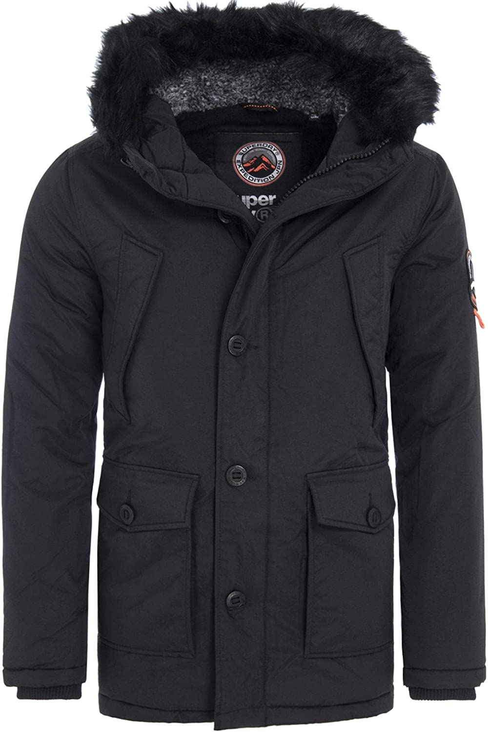 TALLA XXL. Superdry Parka Everest Negro