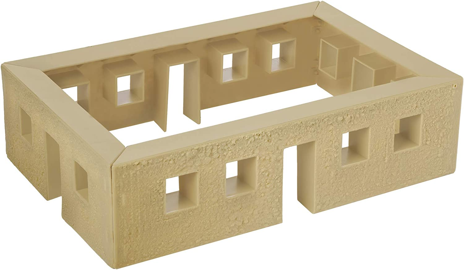 BMC WW2 Bunker Walls - Tan Plastic Army Men Playset Accessory Building