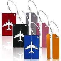 6pcs identificador de maletas de etiqueta de aluminio