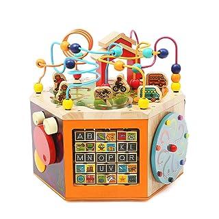 Sviluppa Giocattoli educativi per Bambini educativi precoci, Giocattoli Rotondi, Perline, Giocattoli, Giocattoli Genitore-Bambino (Color : Orange, Size : 40 * 40 * 37cm)