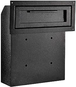 AdirOffice Through-The-Door Safe Locking Drop Box (Black)